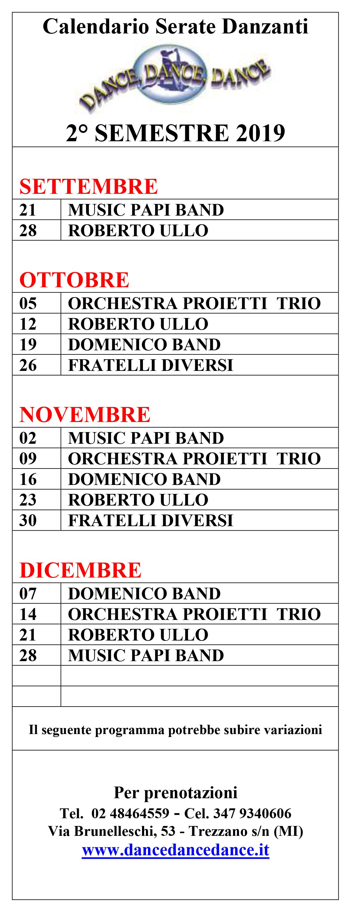 Fids Calendario 2020.Scuola Di Ballo Dance Dance Dance S S D A R L