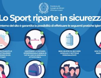 LO SPORT RIPARTE IN SICUREZZA DA MARTEDI 1° SETTEMBRE 2020
