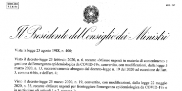 AGGIORNAMENTO DECRETO 24 OTTOBRE 2020
